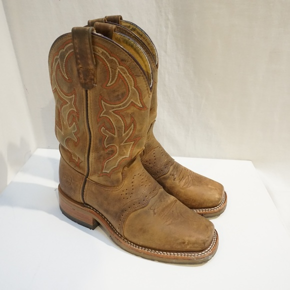 b790cba515e Double H Boots Mens square toe western ropers